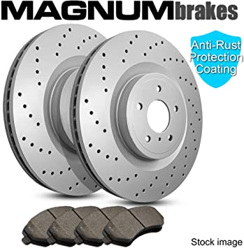 Front Disc Brake Rotors And Ceramic Pads Kit For Audi A6 Quattro