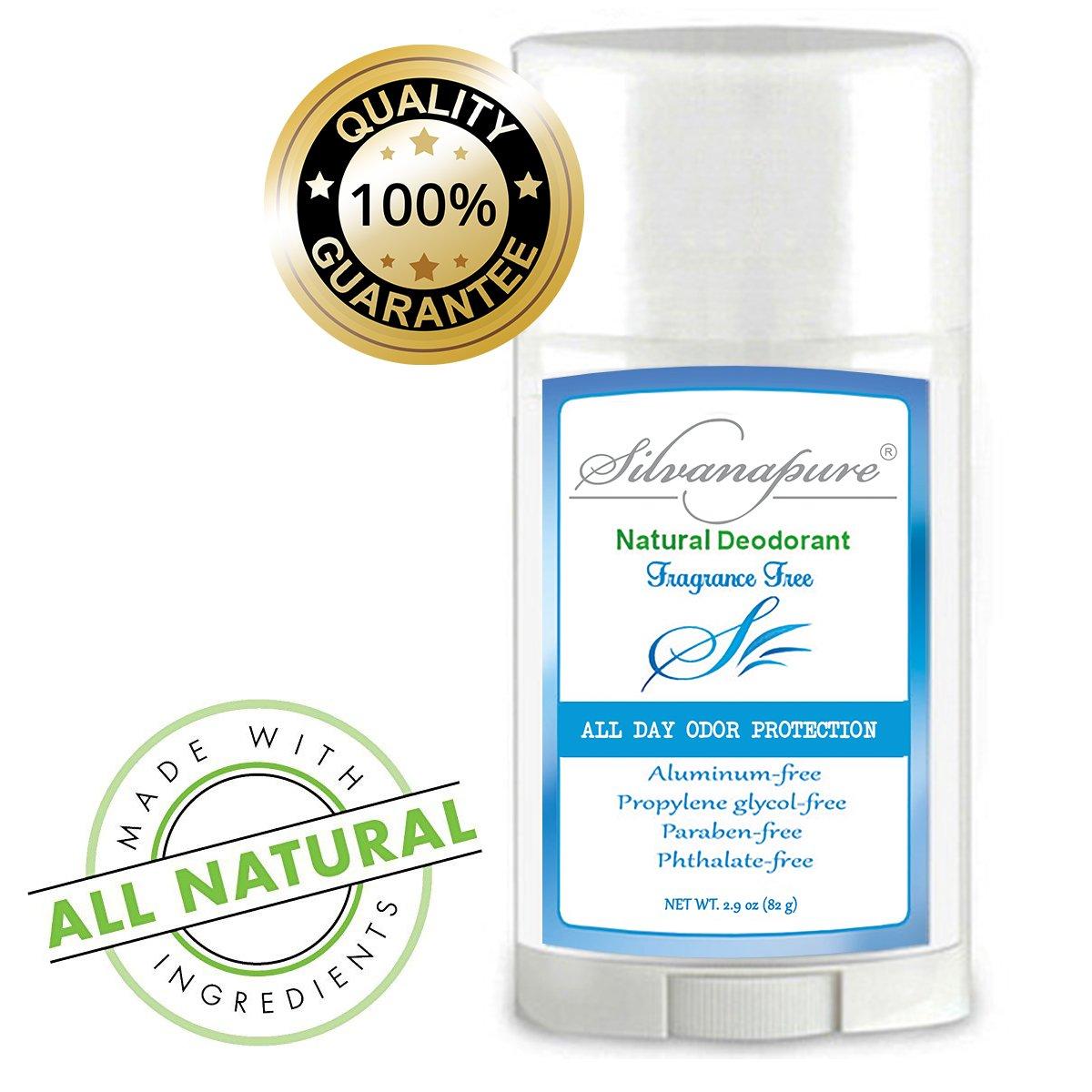 Natural Deodorant Stick Aluminum Free Unscented 2.9 oz | Healthy Deodorant GMO-Free | 100% Non-Toxic Deodorant | All Day Protection | Natural Deodorant For Men And Women | Non Irritating | No Rash