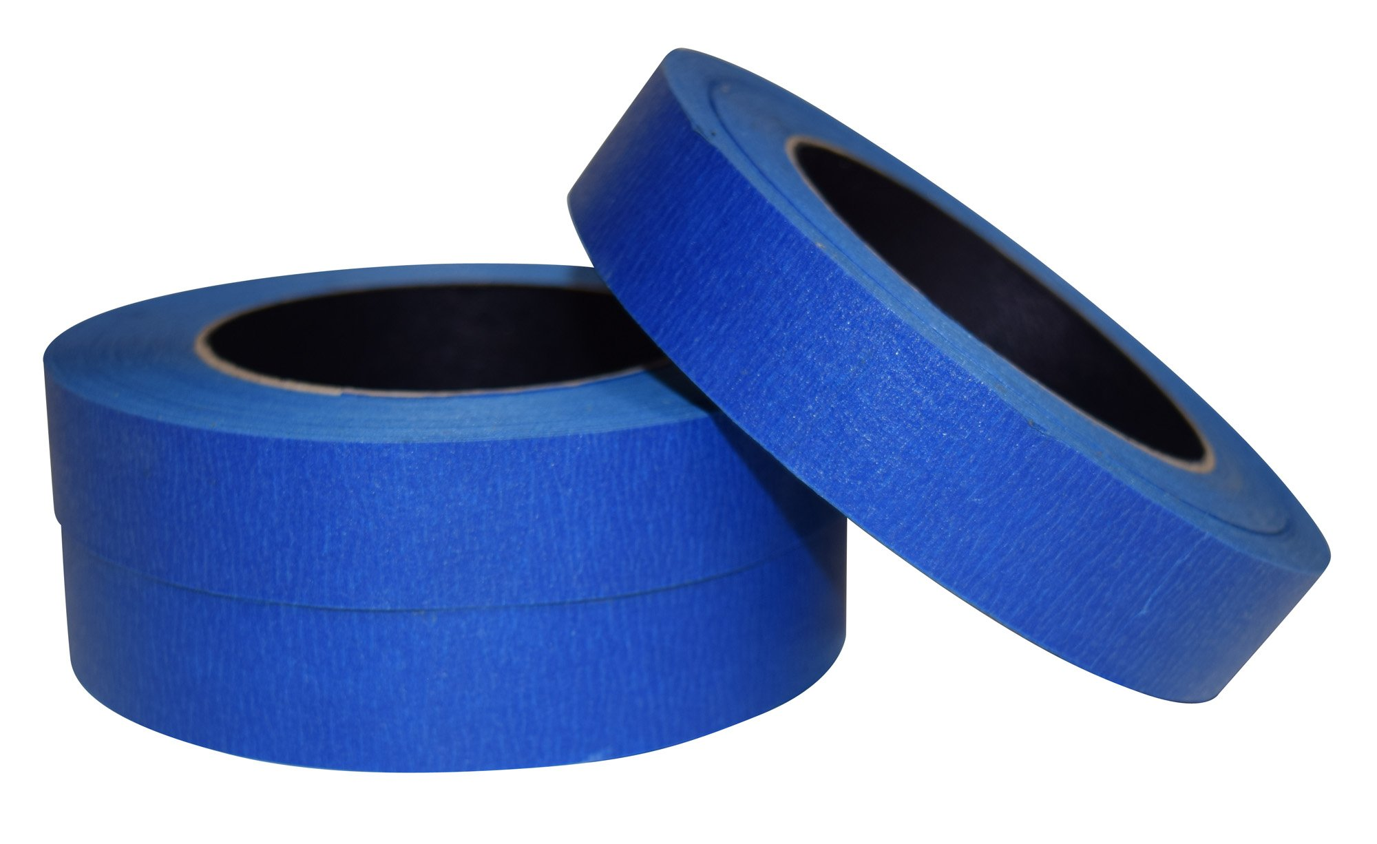 JAK Industrial Blue Painters Tape PROFESSIONAL Grade - CASE of 48 - 1'' x 60 Yards per roll. (24MM .94in) by JAK Industrial (Image #3)