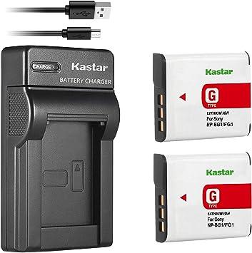 2X Battery /& USB Charger NP-BG1 For Sony CyberShot DSC-H50 DSC-WX1 DSC-W170