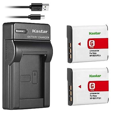 2X Battery /& USB Charger NP-BG1 For Sony CyberShot DSC-H20 DSC-HX5V DSC-W100