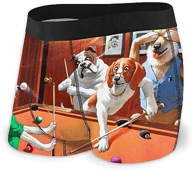 Adamitt Calzoncillos bóxer para Hombre Pantalones Cortos Perros Jugando al Billar Ropa Interior Suave para Perros Divertidos Calzoncillos con Novedad gráfica: Amazon.es: Ropa y accesorios