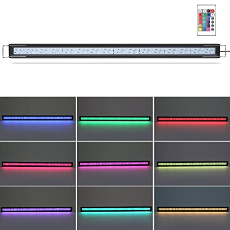 DECKEY Lámpara de Acuario Luces para Acuarios de Peces y Estanques Aluminio 6W 24 LED Se