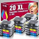 ms-point® 20x Druckerpatronen (Patronen) XL kompatibel zu Brother LC985