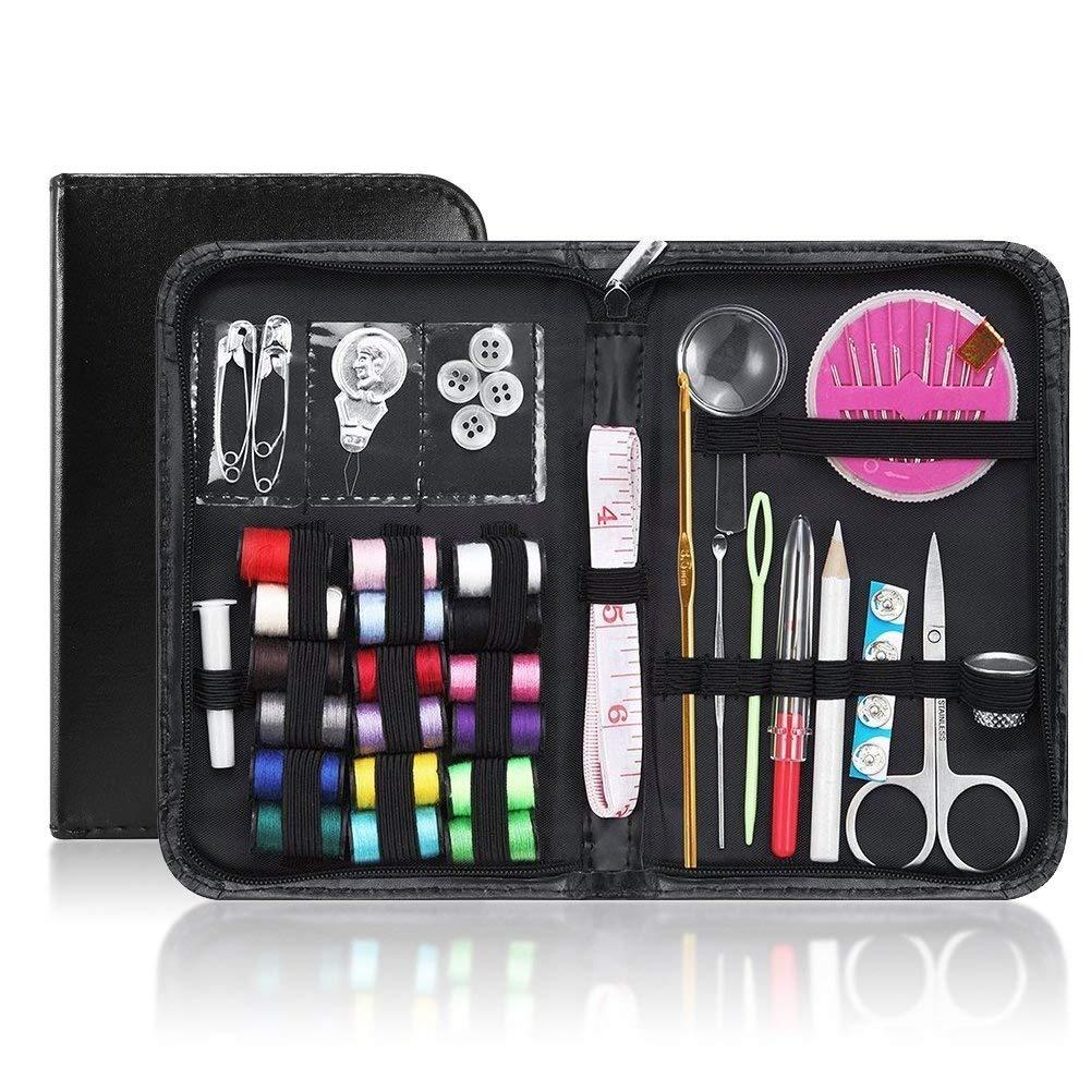 Dreamiracle - Kit da cucito portatile, mini set per cucire a mano, per principianti, adulti, ragazze, per emergenze a casa o in viaggio 75pcs Set