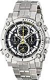 Bulova Men's Designer Chronograph Watch Stainless Steel Bracelet - Blue W/ Yellow Precisionist Wrist Watch 96G175
