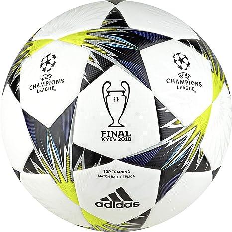 Objetor Precursor adiós  adidas Kiev Final Training Football Ball, White/Black/Syello/Bi, 4:  Amazon.co.uk: Sports & Outdoors