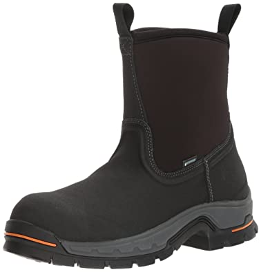 Timberland PRO Mens Stockdale Pull-On Alloy Toe Waterproof Industrial & Construction Shoe, Black