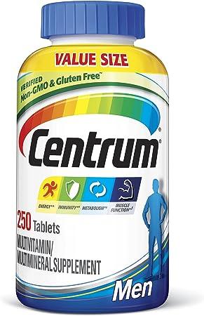 Centrum Multivitamin for Men, Multivitamin/Multimineral Supplement with Vitamin D3, B Vitamins and Antioxidants - 250 Count