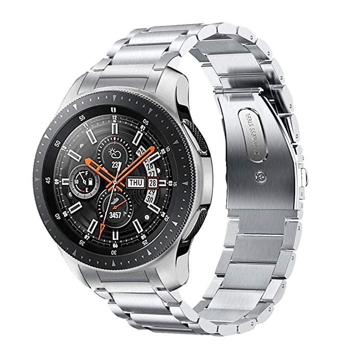 Kartice Compatible with Samsung Galaxy Watch(46mm) Bands,22mm Solid Stainless Steel Metal Replacement Strap fit Galaxy Watch(46mm) SM-R800.
