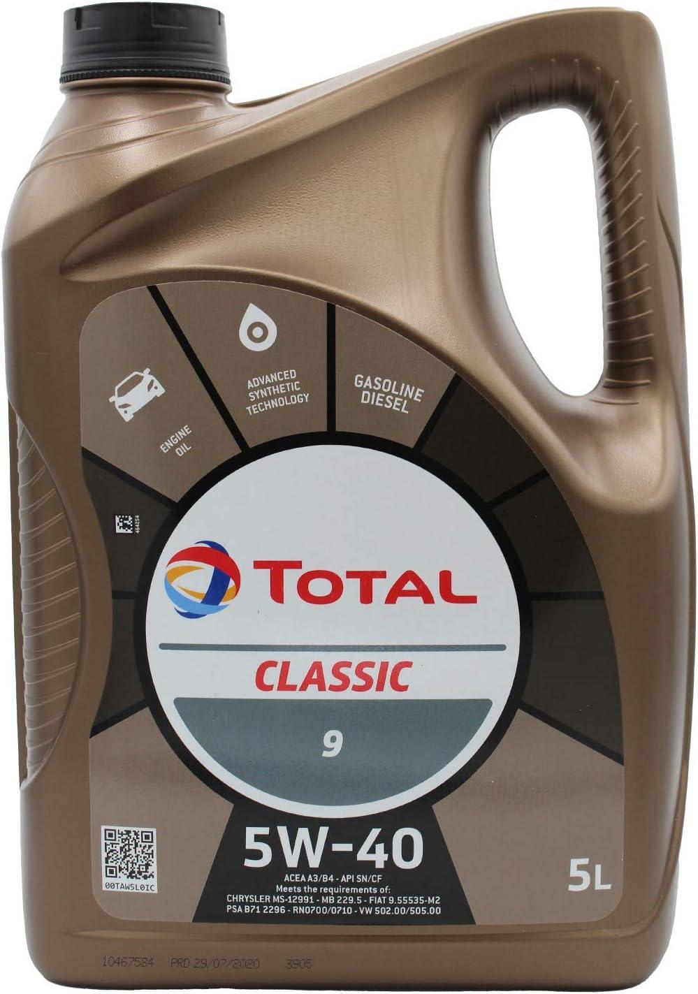 Total 156721 Classic 5w 40 Motorenöl 5 Liter Auto