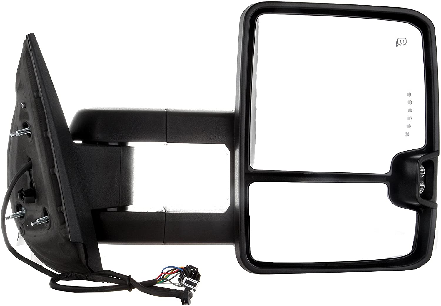 with Amber Turn Signal Power Controlling Heated Back up Light SCITOO Towing Mirrors fit Chevrolet GMC Automotive Exterior Mirrors fit 2007-2014 Chevrolet Silverado GMC Sierra 07 for New Body