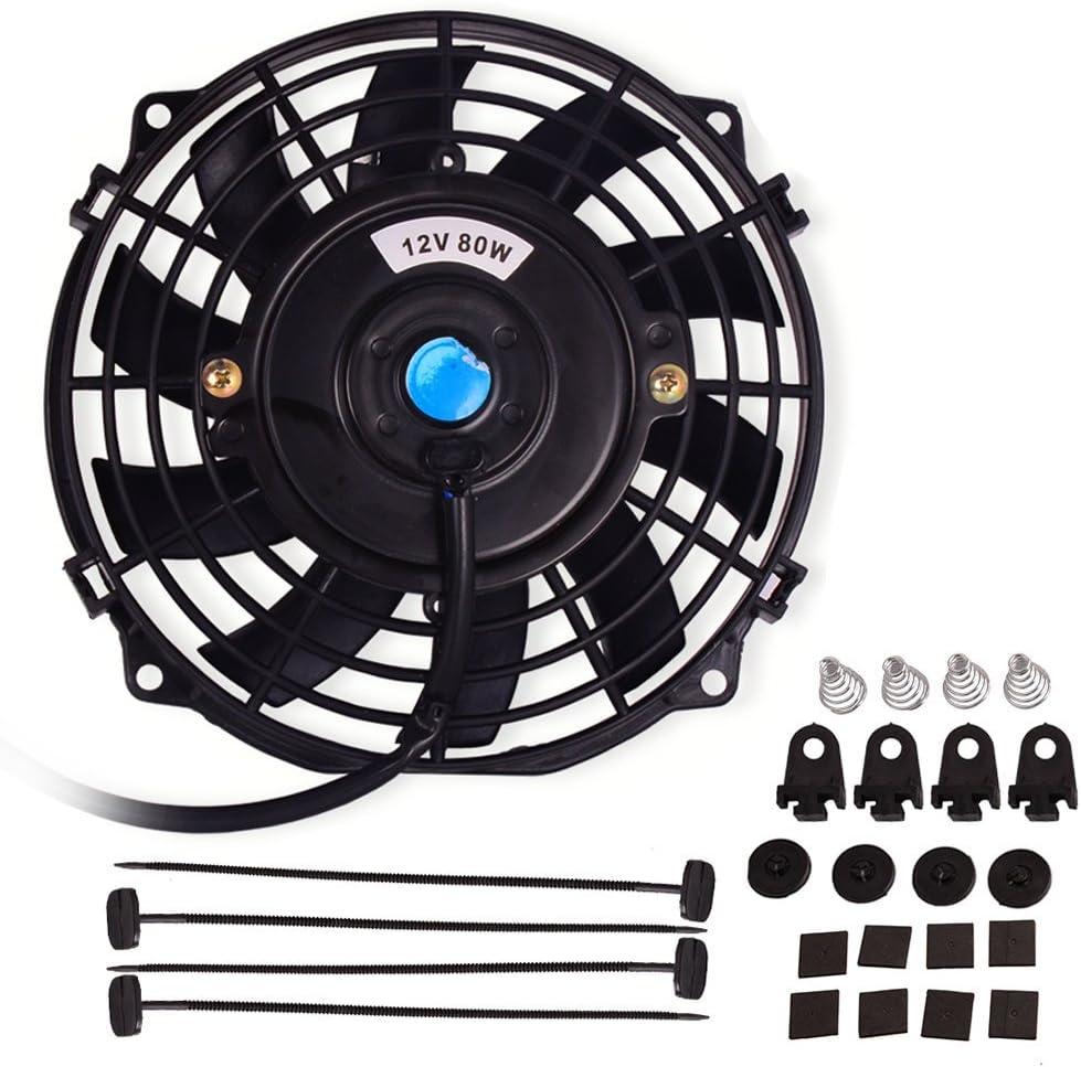 "10/""Radiator Cooling Fan Universal Mounting Kit Straight Blade"