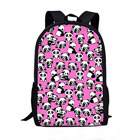 ddf940570dad Amazon.com | Showudesigns Pink Printing Panda Backpack for Junior ...