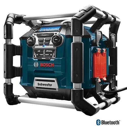 Bosch Bluetooth Power Box Jobsite AM, FM Radio, Charger, Digital Media Stereo PB360C