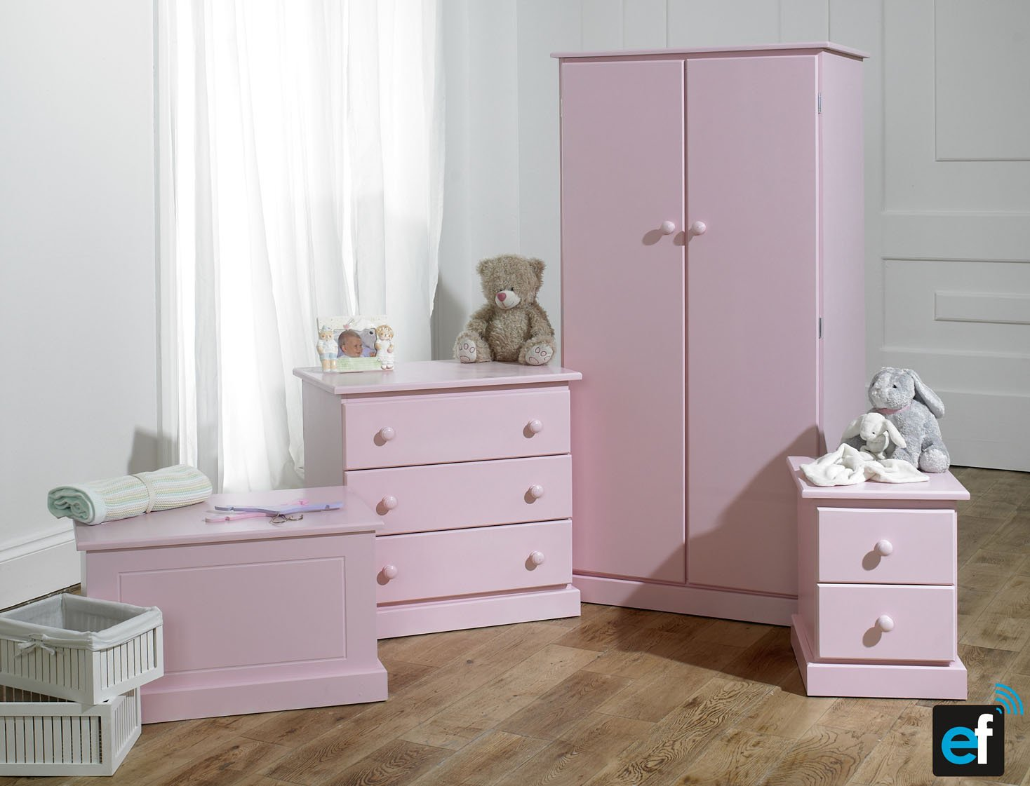 Fully Assembled Kids Pink 4 Piece Bedroom Set Ready Not Flatpack Co Uk Kitchen Home