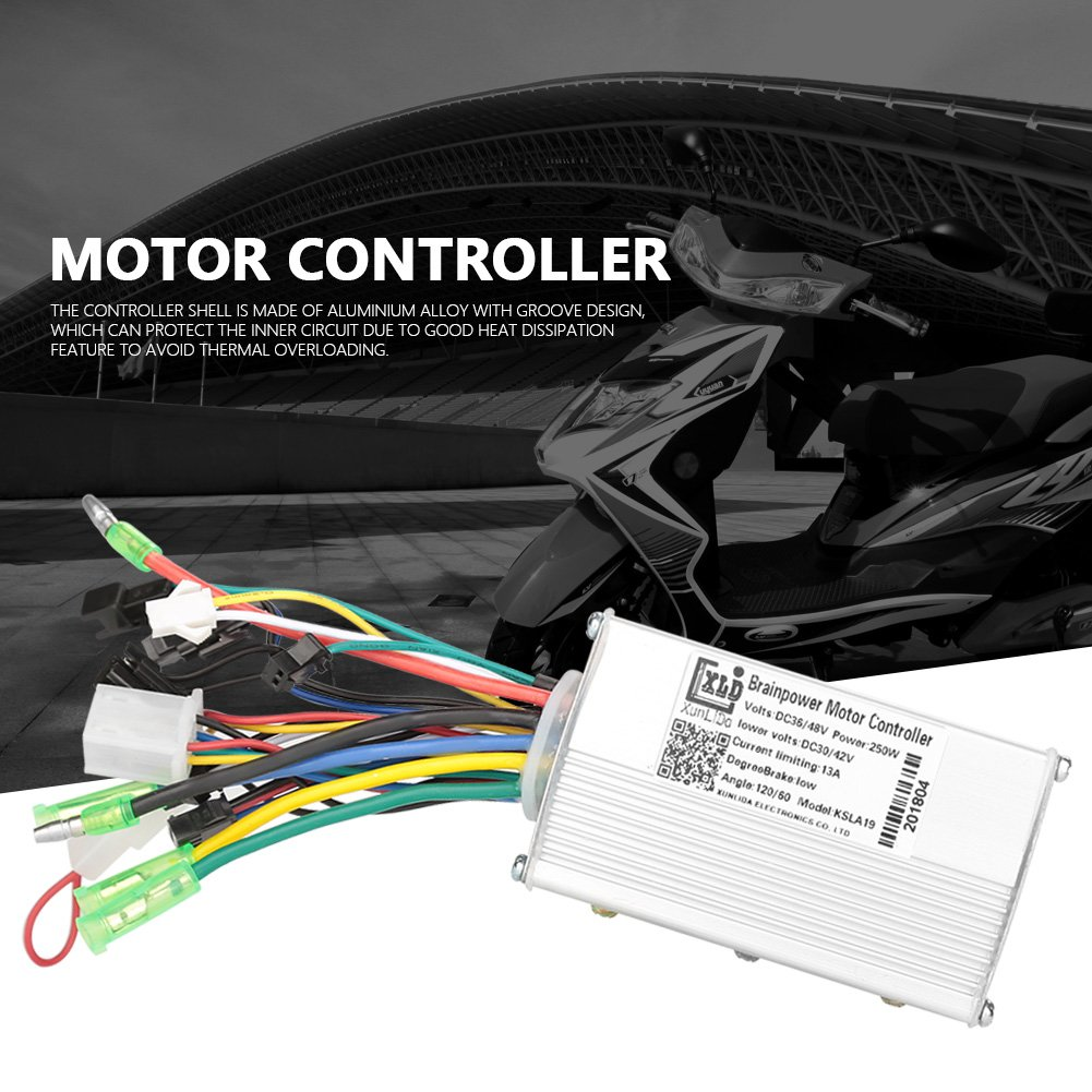 VGEBY 36V/48V 250W Electric Bicycle Brushless Motor Speed Controller for  Electric Bike Scooter