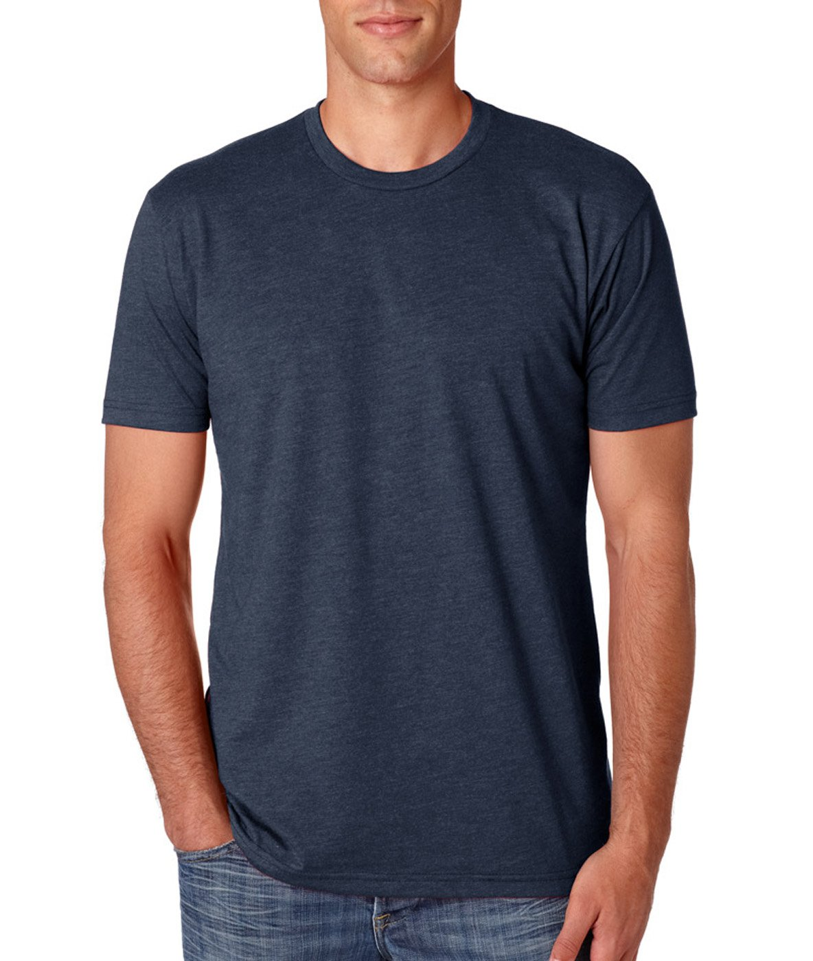 Next Level N6210 T-Shirt, Black + Midnight Navy (2 Pack), Large by Next Level