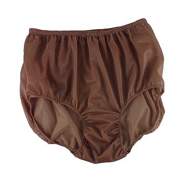 c61c6f38c0067f Brown Full Briefs Nylon Plain New Knickers Panties Underwear Lingerie Men  Women (XL(UK