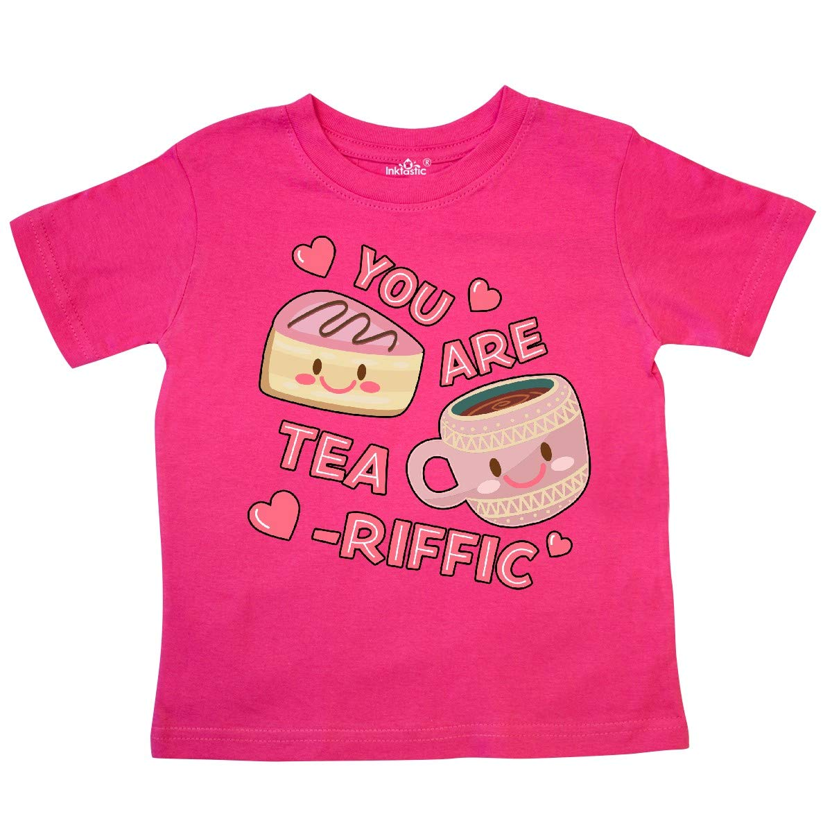 inktastic Valentine You are Tearrific with Cute Toddler T-Shirt 5//6T Hot Pink