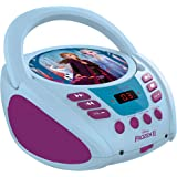 Lexibook Disney Frozen Elsa CD Player, aux-in Jack, AC or Battery-Operated, Blue/White, RCD108FZ_10