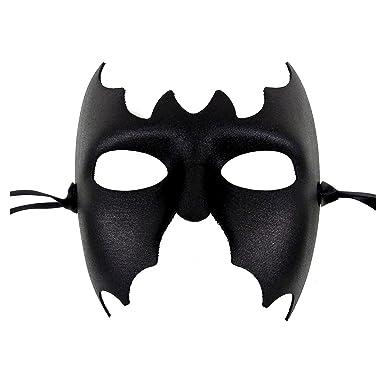 ef9105e270a3 Amazon.com: Batman Mens Black Masquerade Mask - Italian Superior Quality from  Samantha Peach: Clothing