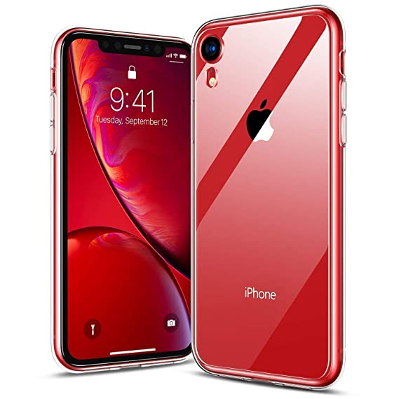 the latest 1c2ff 42d73 RANVOO iPhone XR Case Clear, Hard Transparent Glass Soft TPU Compatible  with iPhone XR 6.1 LCD Only, Crystal Clear