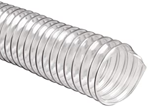 "Flexadux R-2 PVC Duct Hose, Clear, 8"" ID, 0.020"" Wall, 25' Length"