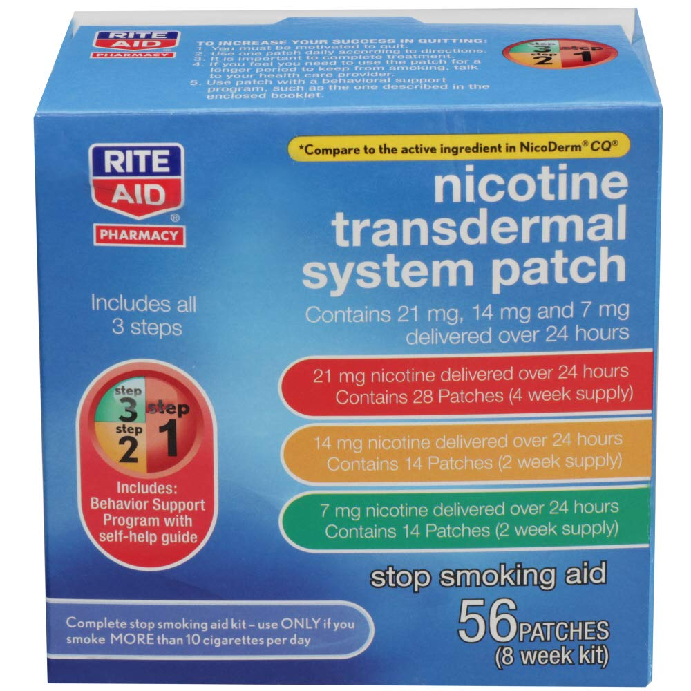 Rite Aid Pharmacy Nicotine Patch Kit - 56 Count by Rite Aid