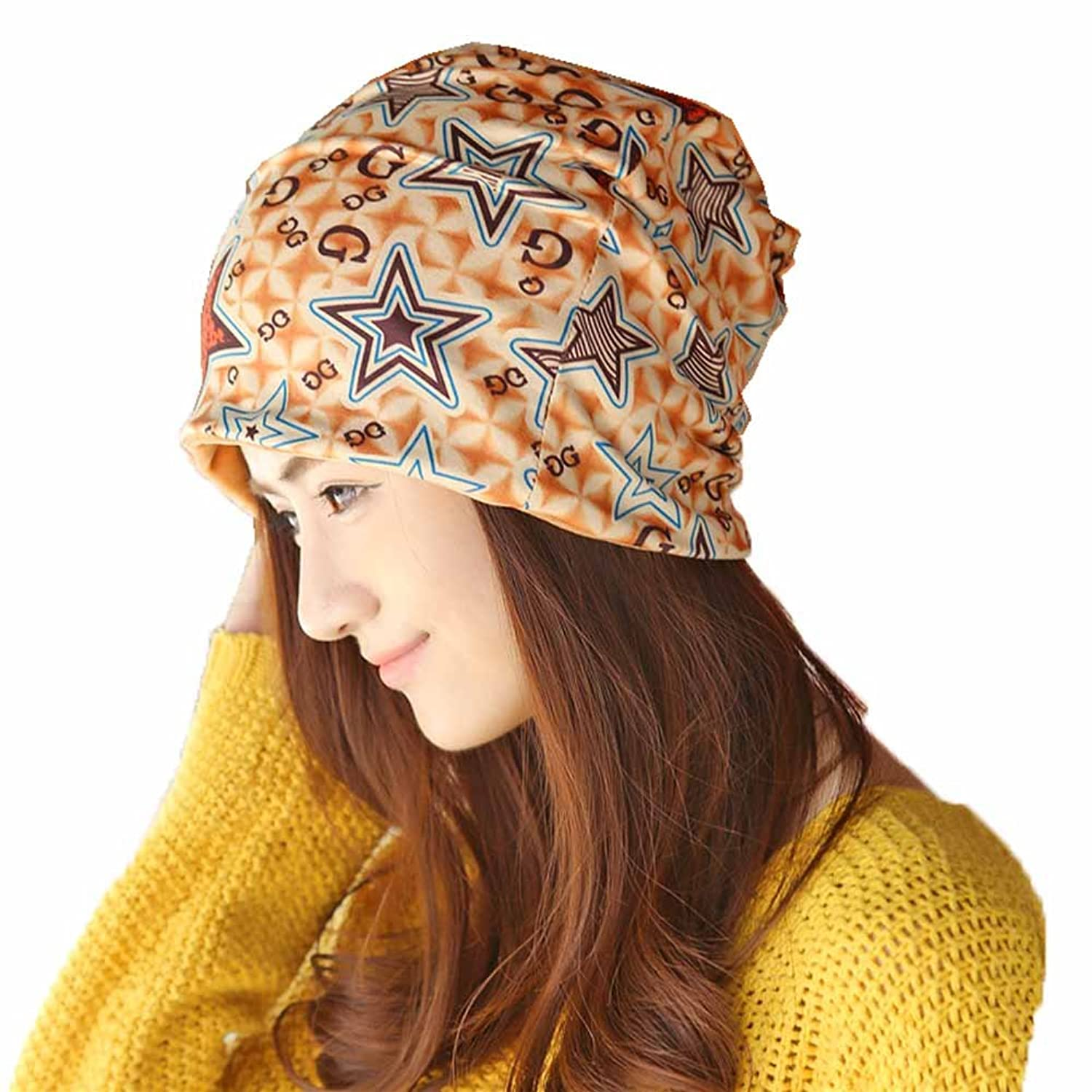 Surker Korean Womens Stars Pattern Scarf& Hat CL02046