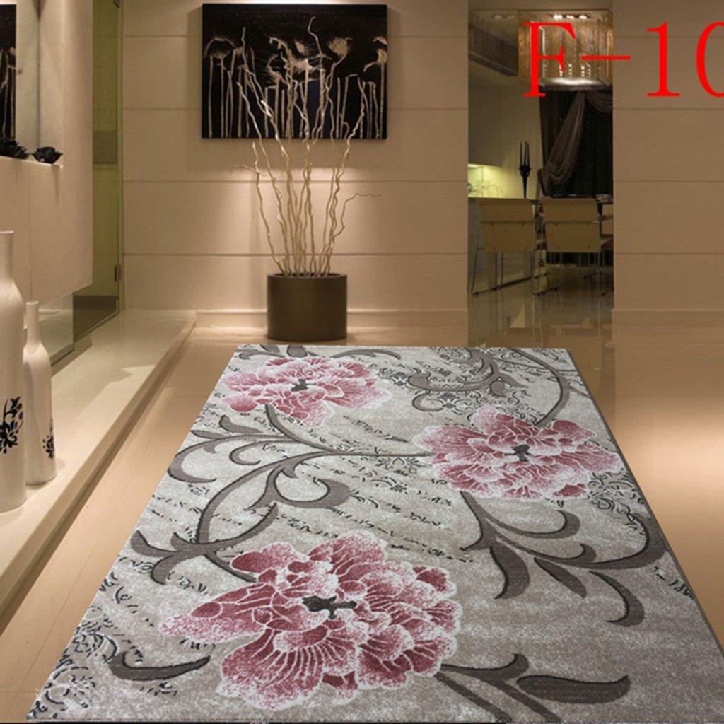 Wgh55555 Cifrado de Alfombra Espesada Lavable Minimalista Estilo Moderno Sala de Estar Dormitorio Diseño de habitación Ambiental Sin Olor 133 * 190cm (Color : 3)