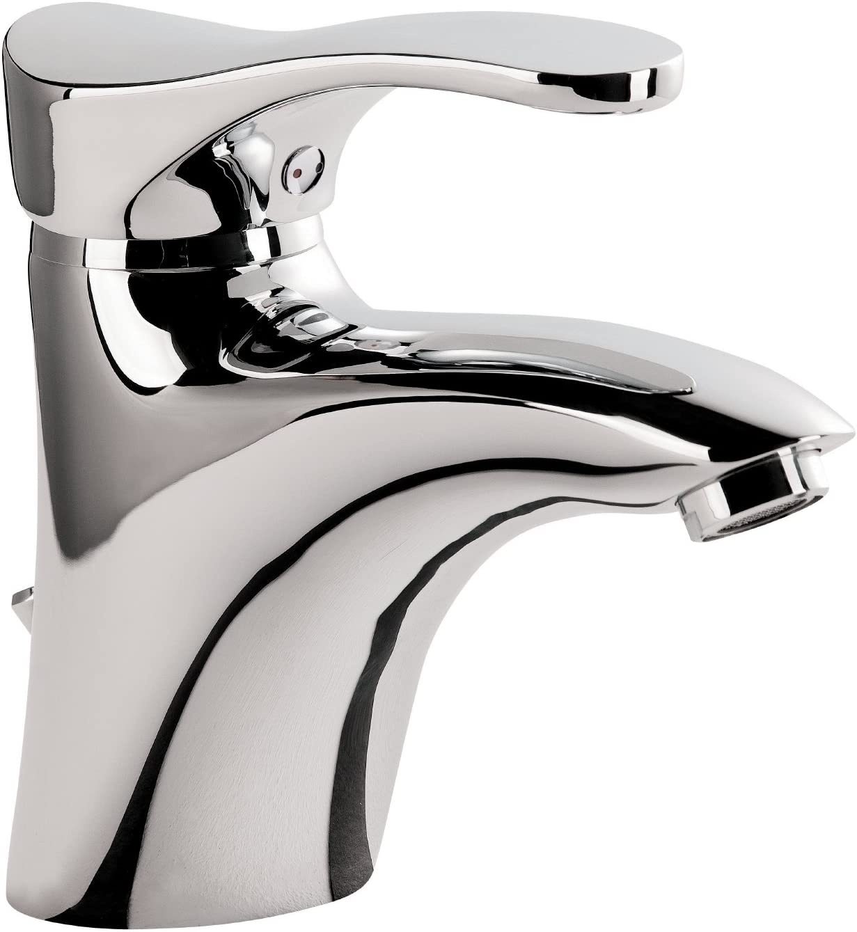 Chrom Einhebelmischer Wasserhahn aquaSu/® Einhandmischer Duna f/ür Waschtisch