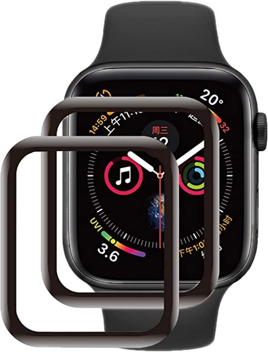 SNSIR Screen Protector 44mm for Apple Watch Series 6/SE Series 5/4 [2 Pack] [Tempered Glass] Full Coverage Protective Foil 9H (44mm)