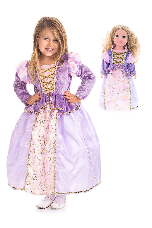 Little Adventures クラシック ラプンツェル プリンセス ドレスアップ コスチューム & マッチングドールドレス (ミディアム年齢 3-5)   B07KJFHG9V