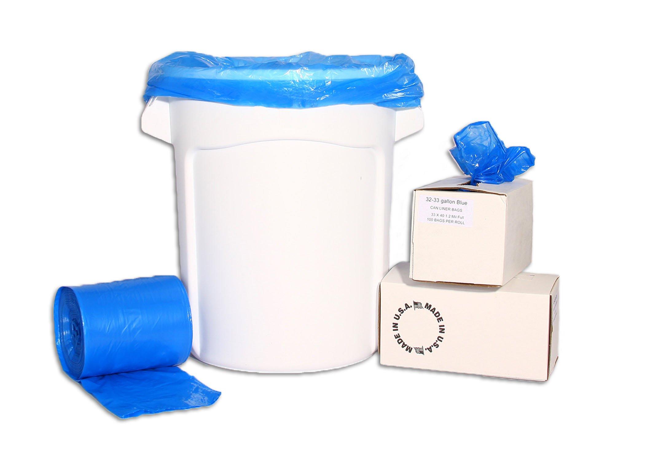 Resilia - 33 Gallon Trash Can Liners (Blue)