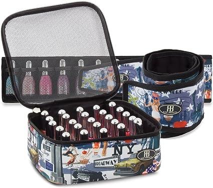 Roo Beauty – Juego de organizadores para esmaltes, estuche de manicura para guardar cosméticos en Nueva York: Amazon.es: Belleza