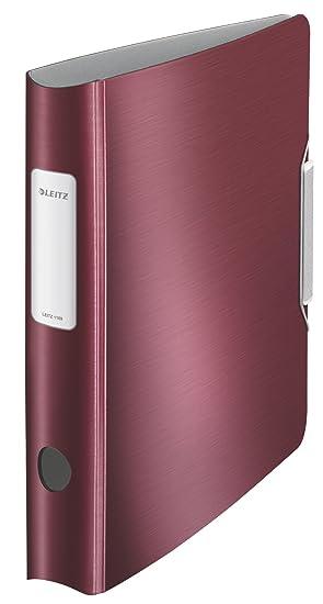 Leitz 11090028 - Archivador de anillas con palanca A4, rojo: Amazon.es: Oficina y papelería