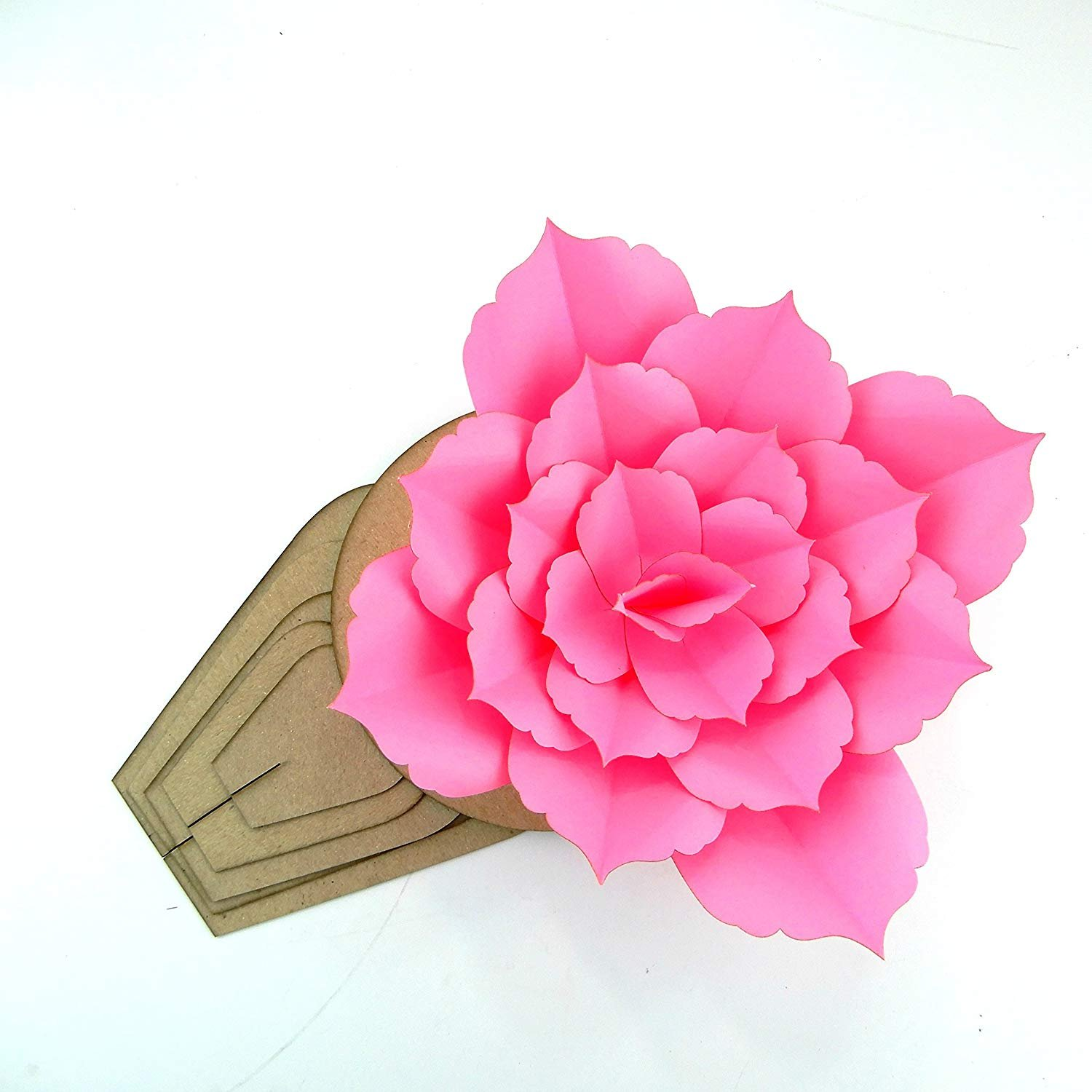 Paper Flower Template Kit Pattern DIY Make Your own Flower Backdrop Photo Booth Flower Decoration Card Stock Cladius