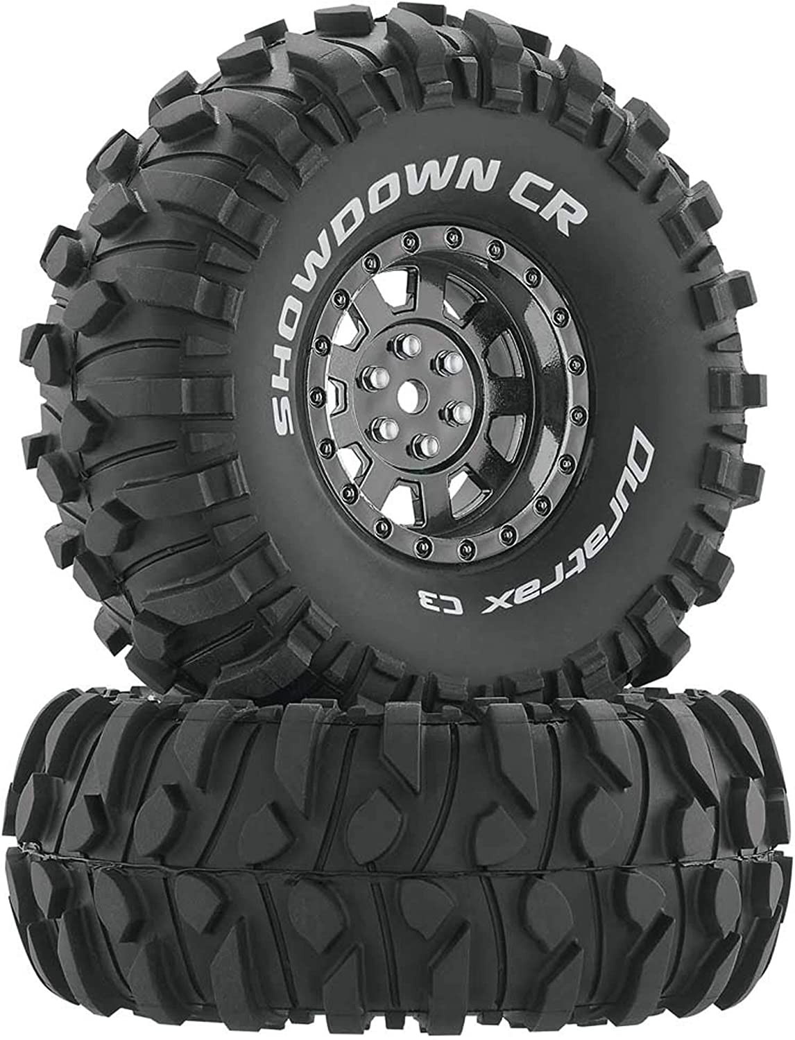 Duratrax Dtxc4034 Rc Rock Crawler Tires With Foam Inserts C3 Super Soft Compound High Traction Showdown Black 1 9 Amazon Co Uk Welcome