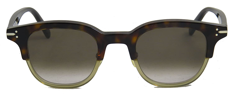 13bb743f36e4 Amazon.com  Celine 41394 S T6ZZ3 Tortoise Crystal Green 41394 s Square Sunglasses  Lens Ca  Celine  Clothing