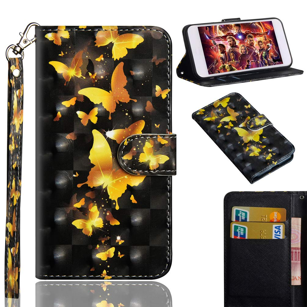 LG Stylo 4 Case, LG Q Stylo 4 Wallet Flip Folio Case Kickstand Card Slots Kawaii Colorful Painting Shiny 3D PU Leather Wallet Shockproof Soft TPU Rubber Bumper Ultral Slim Wallet Cover for LG Q8 2018 KASOS