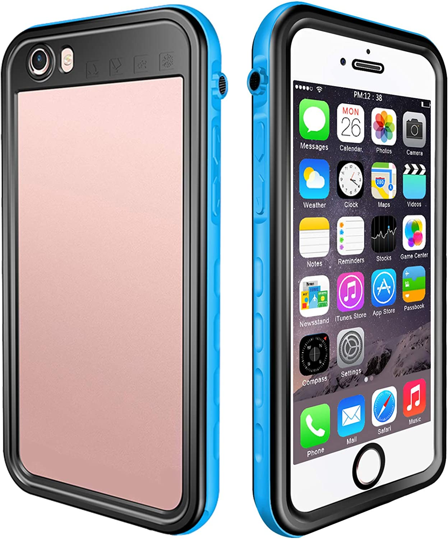 EFFUN Waterproof iPhone 6/iPhone 6s Case, IP68 Waterproof Dirtproof Snowproof Shockproof Case with Built-in Screen Protector for iPhone 6/6s Black/White/Pink/Aqua Blue/Light Blue