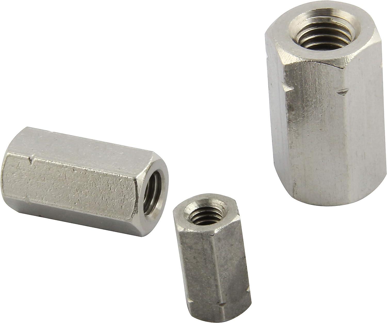 FASTON Embout hexagonal hexagonal en acier inoxydable A2 avec /écarteur de filetage