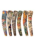Vogue of Eden®- Fake Temporary Tattoo Sleeves Novelty Design Body Art Arm Accessories(2pc/6pc/6pc/8pc/10pc) (Package C: set of 6)