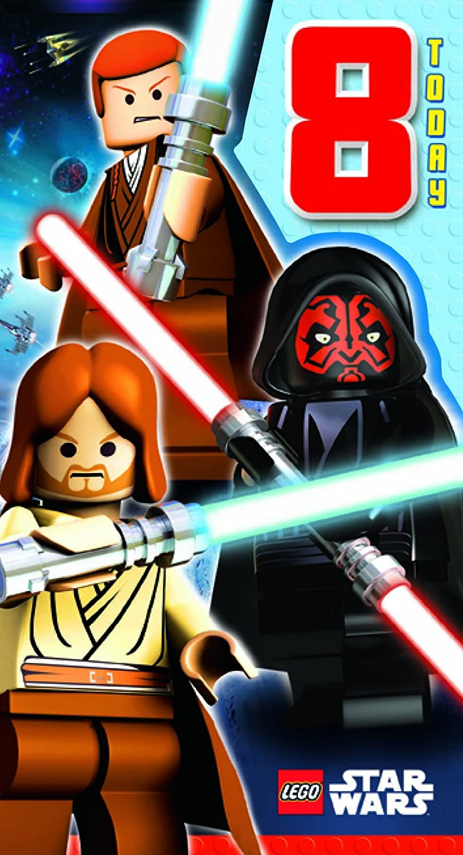 Lego Star Wars - Tarjeta de felicitación para 8º cumpleaños ...