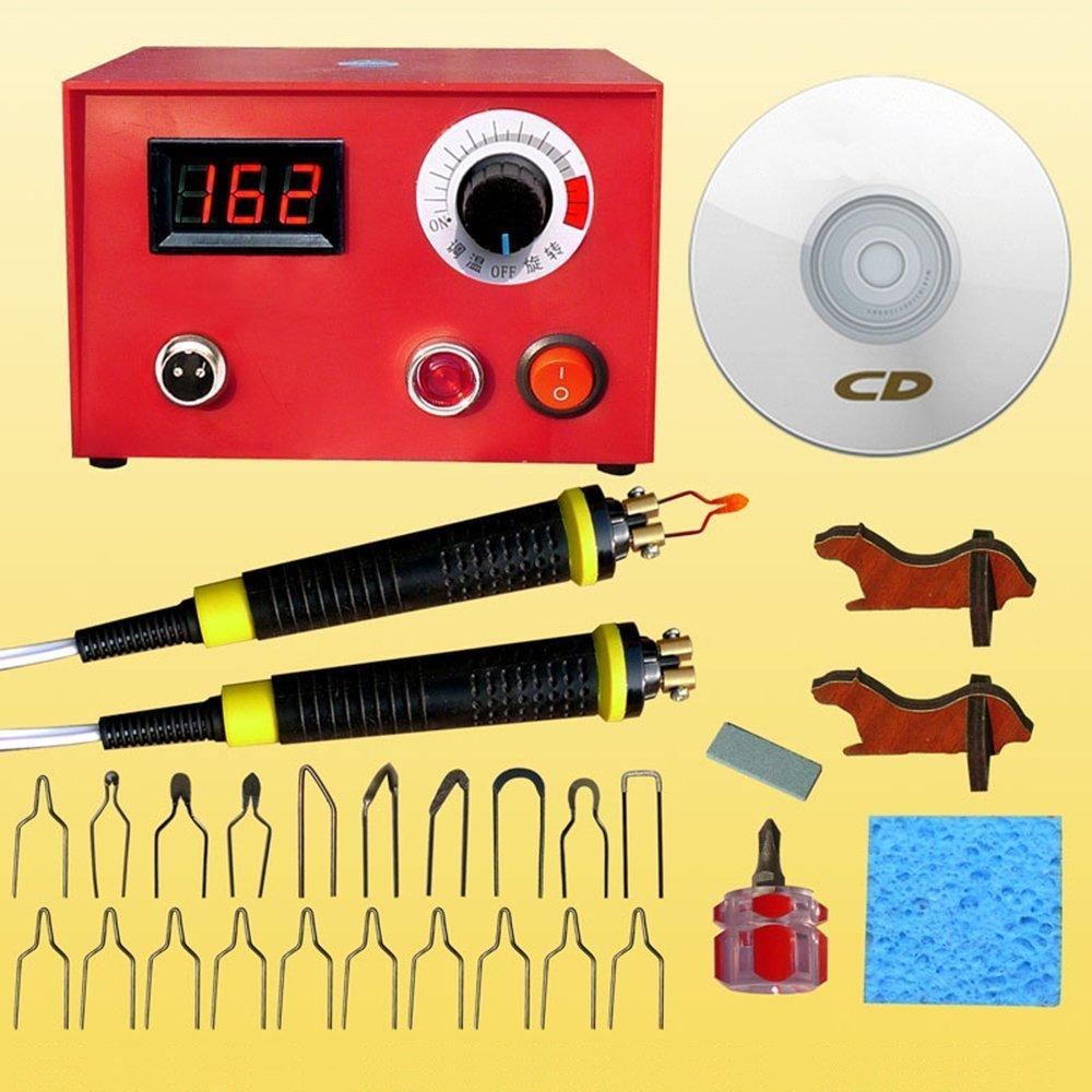 Wood Burning Tool,Jian Ya Na 110V 50W Digital Display Pyrography Multifunction Pen Machine Kit Set Gourd Wood Crafts Tool (110V) Jianyana 4336911912