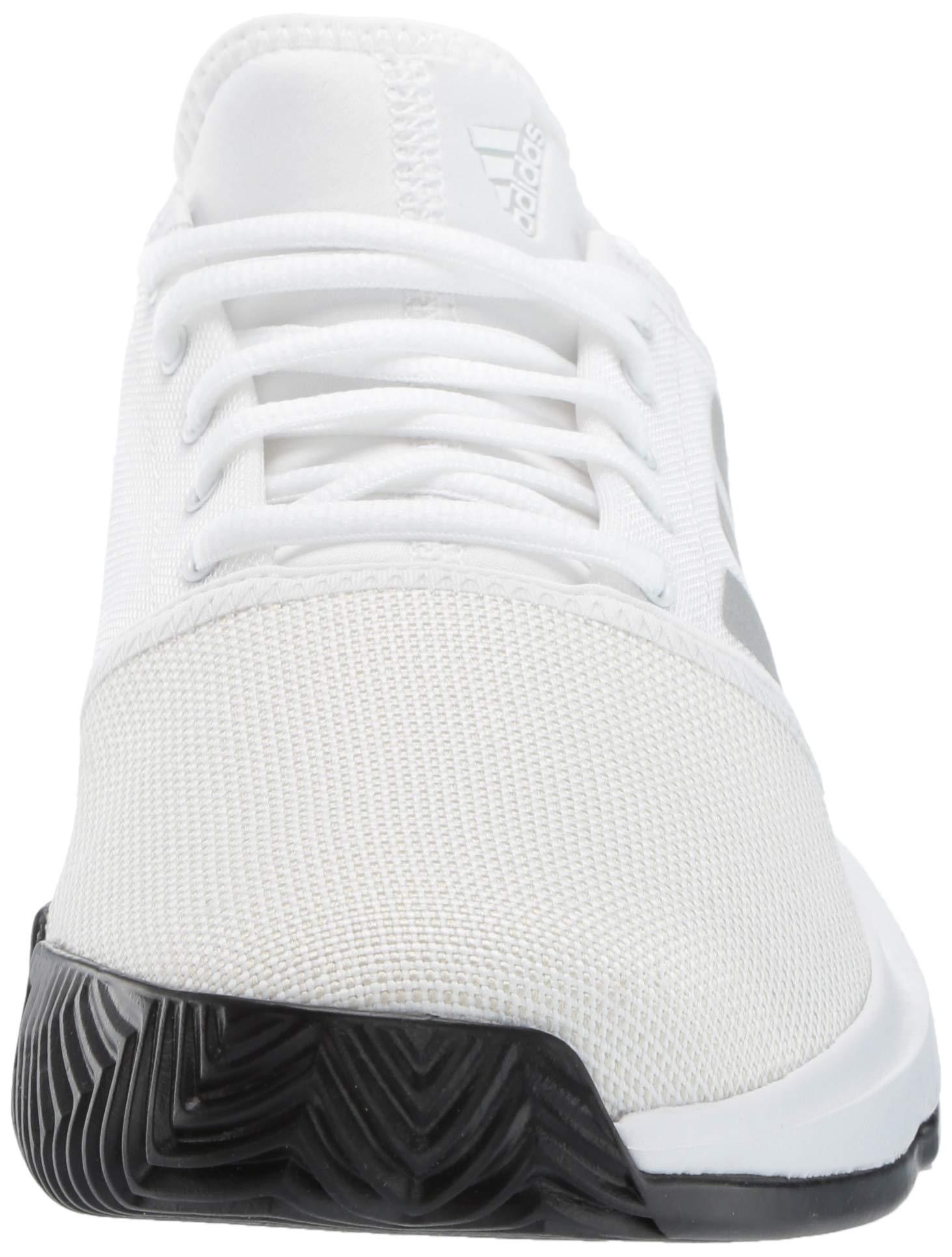 adidas Men's Gamecourt, White/Matte Silver/Black, 7.5 M US by adidas (Image #4)