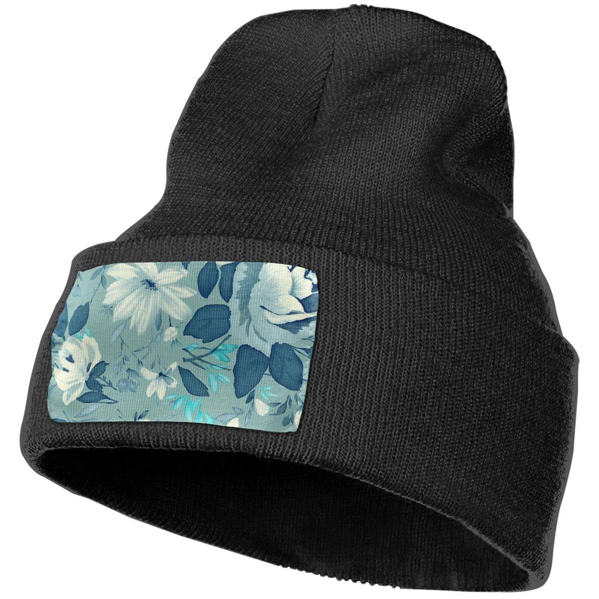 100/% Acrylic Acid Mas Beanie Hat Ruin Flowers Fashion Knitting Hat for Men Women