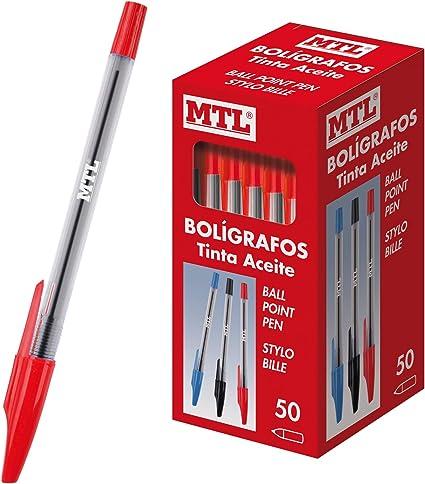 1,0 mm Dohe Rojo 50 uds Caja de bol/ígrafos con capucha