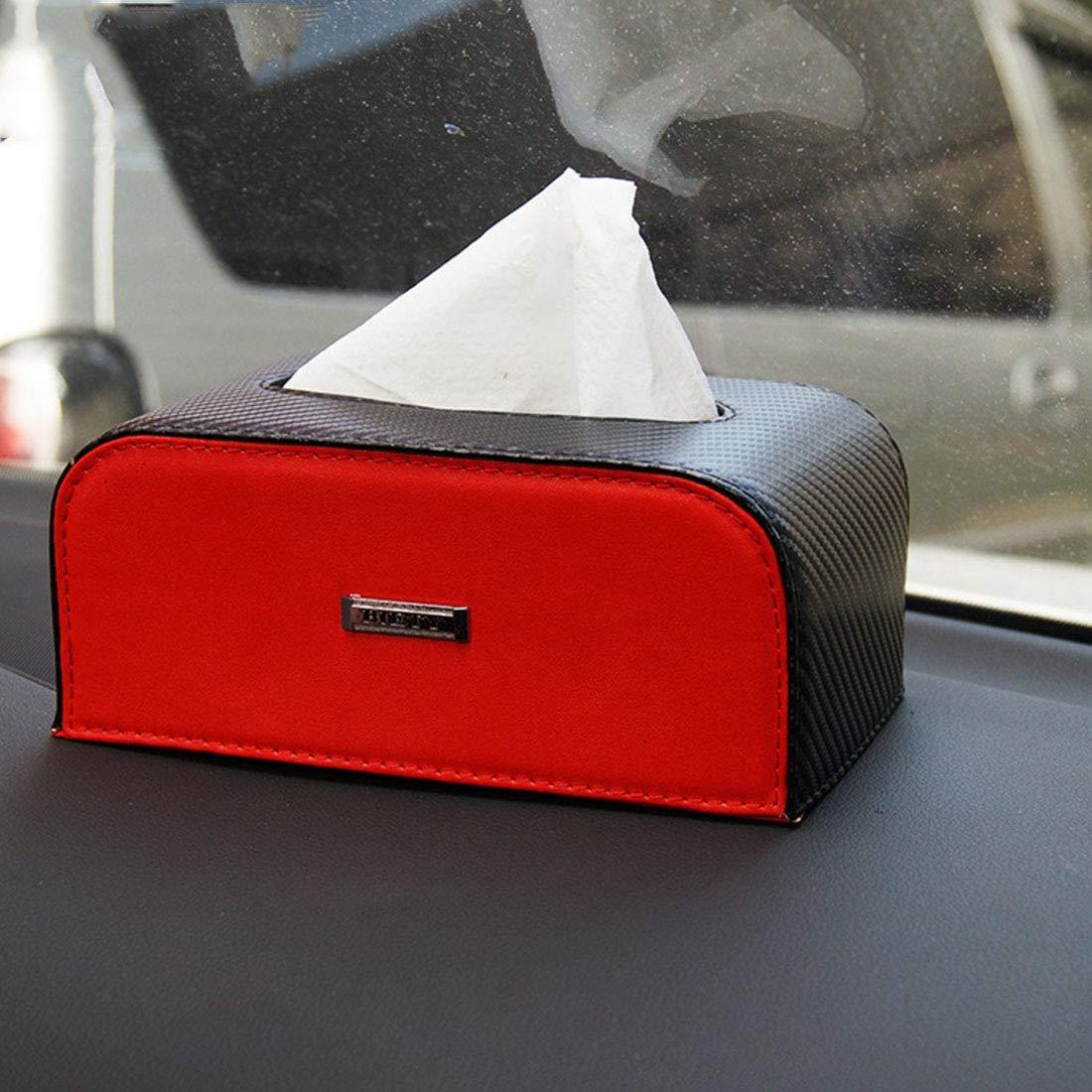Cvthfyk EF Boîte à mouchoirs créative Boîte à mouchoirs en Cuir Panneau de Bord Boîte à mouchoirs Boîte à mouchoirs (Color : Black and White)